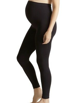ISABEL MATERNITY By Ingrid & Isabel Size S/M Black SEAMLESS BELLY LEGGINGS #m01
