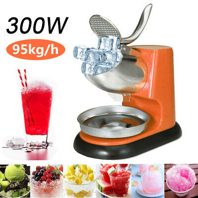 95Kg/H 300W  Electric Ice Crusher Shaver Commercial Machine Snow Cone