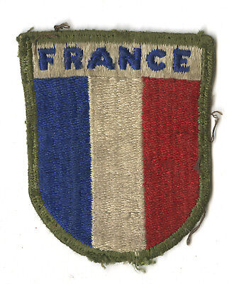 Wwii Original France War Aid White Back Patch