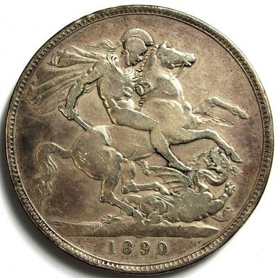 1890 Great Britain 1 Crown - KM# 765 - .925 Silver