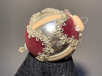 BEAUTIFUL VINTAGE ANTIQUE UNIQUE HAND MADE 1950s GLASS BALL CHRISTMAS ORNAMENTS