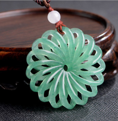 Boutique China Pendant Women Exquisite Hand carved Flower natural Dongling jade