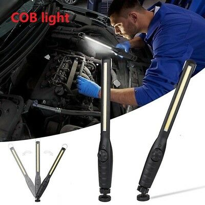 80000LM Rechargeable COB LED Slim Work Light Lamp Torch Flashlight + USB Cable