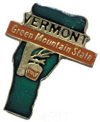 Hat Lapel Push Pin Tie Tac State of Vermont NEW