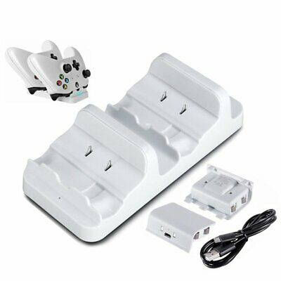 2 USB Rechargeable Battery + Dual Controller Charger Dock for XBOX ONE XU