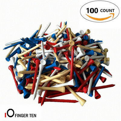"""Golf Tees 2 3 4 Blue 100 Count 2.75"""" Hardwood Natural Red/White/Mixed Callaway"""