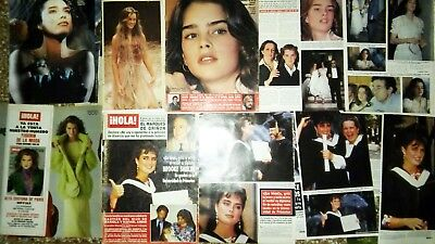 BROOKE-SHIELDS-LOT- Spain and Argentina CLIPPINGS LOT   .