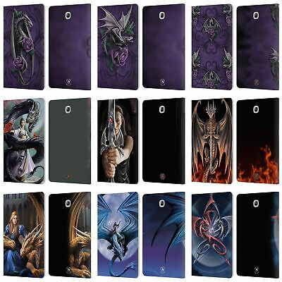Official Anne Stokes Dragons 3 Leather Book Case For Samsung Galaxy Tablets
