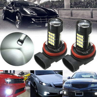 2Pcs H11/H8 15W 42 SMD LED White 2835 Canbus Error Free Fog Light Bulb 6000K