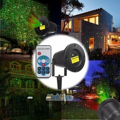 R&G Laser Fairy Light Projection Projector Outdoor Garden Landscape LED Lamp USA