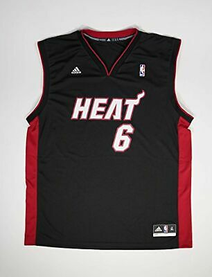 57154e590 Lebron James Black Away NBA Miami Heat Jersey XL  6 - FREE SHIPPING