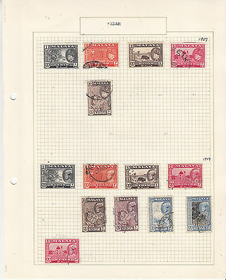 MALAYA KEDAH 1957-59 On old Album page FINE USED