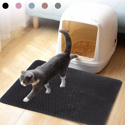 Double-Layer Cat Litter Mat Trapper Foldable Pad Pet Rug Carpet Waterproof