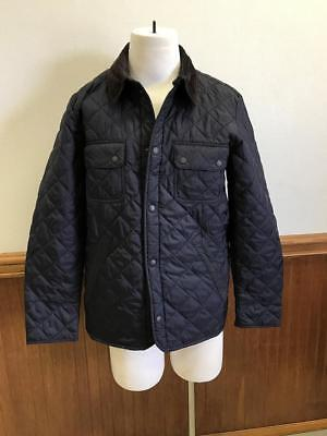 Barbour for JCrew Collaboration Tinford Jacket Navy quilted corduroy XL E0548