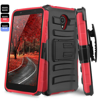 For Alcatel idealXTRA / 1X Evolve Hybrid Rugged Belt Clip Holster Kickstand Case