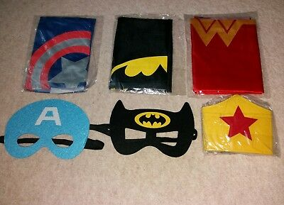 Super Heroes fancy dress Bat man  Capt America Wonder woman