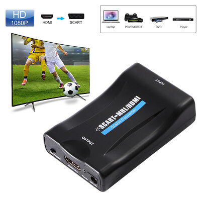 1080P SCART To HDMI Video Audio Upscale Convertitore Adattatore HD TV DVD AH198
