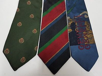 Moschino Trussardi Brooksfield  Lotto 3 Cravatte Vintage Seta 100% Tie Silk 100%