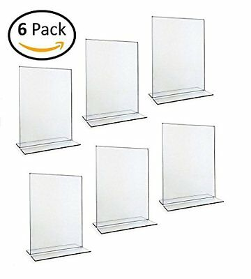 """The Brave Owl Vertical Clear Acrylic Sign Holder Display 8.5"""" x 11"""" 6 Pack"""