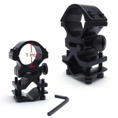 Tactical Airsoft Scope Clip Mount Ring Barrel Adapter For Flashlight&Laser Black
