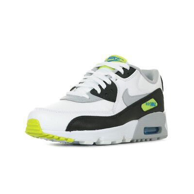 cheap for discount 628f2 ca59d Chaussures Baskets Nike unisexe Air Max 90 Leather (GS) taille Blanc Blanche