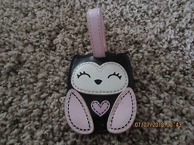 Carter's Black and Pink Cat/Kitten Diaper Bag Luggage Tag