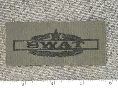 TIOH sample, U. S.  Army Combat SWAT woodland subdued Badge (obsolete) by Best