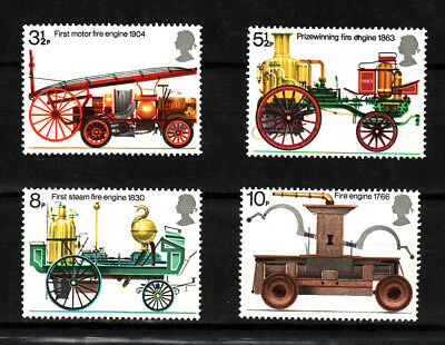 1974 GB, Fire Service, NH Mint Set of Stamps, SG 950-53