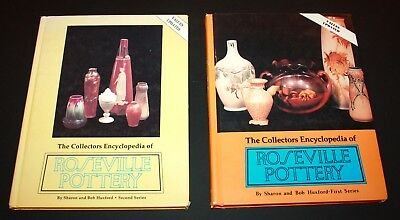 Collectors Encyclopedia of Roseville Pottery Huxford CB Collector Books Lot of 2