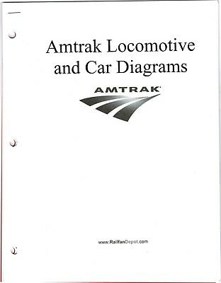 Amtrak Locomotive and Car Diagrams 1996 FREE SHIPPING