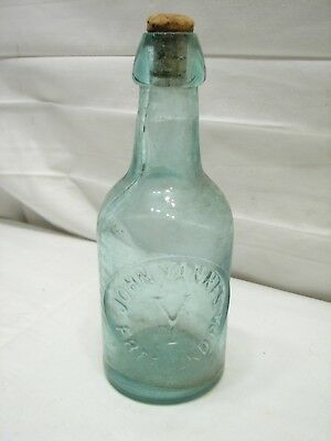 Antique John Yannes Blob Top Soda/Beer Bottle Freeland PA