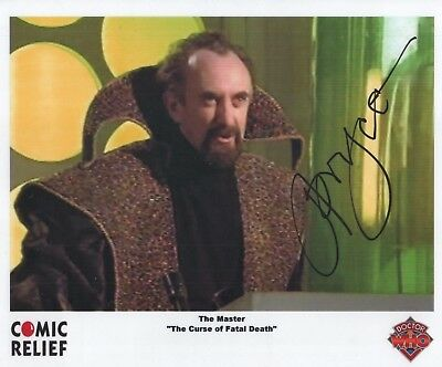 "Doctor Who Auto Photo Print Jonathan Pryce ""The Master"""