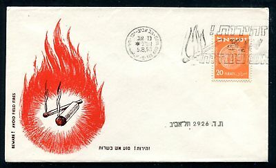 Israel Event Cover Bewere Prevent Fires 1953. x31015