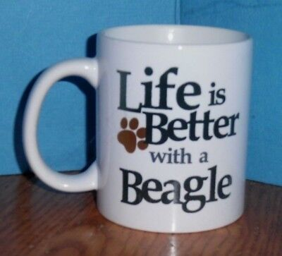 Life is Better with a Beagle  Coffee Cup