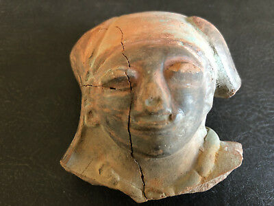 RARE Mayan Pottery Alien Head Pre Colombian Artifact Relic South American Inca