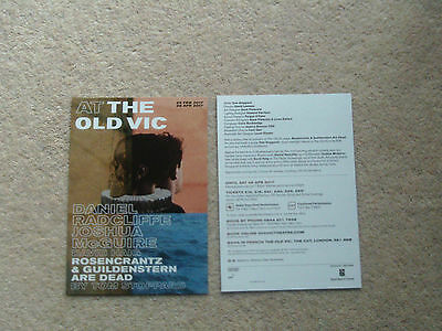 DANIEL RADCLIFFE Theatre Flyers Rosencrantz & Guildenstern are dead 2017 old vic