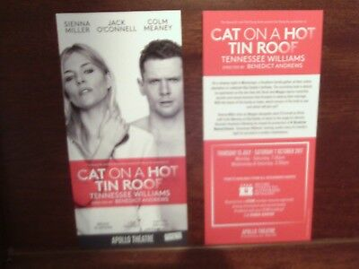 SIENNA MILLER CAT ON A HOT TIN ROOF THEATRE FLYER London Tennessee Williams