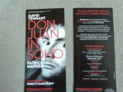 DAVID TENNANT DON JUAN IN SOHO Theatre Flyers LONDON Theatre TWO Flyers