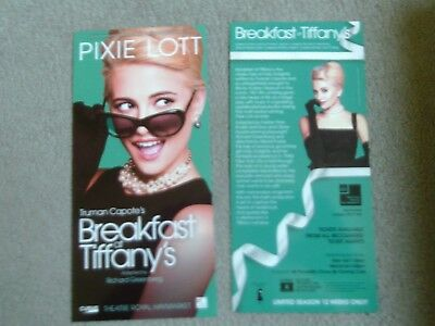 PIXIE LOTT  Breakfast at Tiffany's Theatre Flyers LONDON TWO Flyers