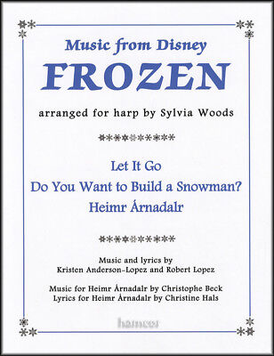 Music From Disney Frozen Arranged for Harp by Sylvia Woods Sheet Music Book