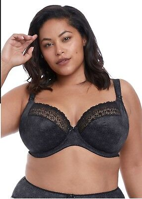 3b85a85efac Elomi Kim Underwired Plunge Bra With Stretch Black-Or Caramel-El4340-Blk-