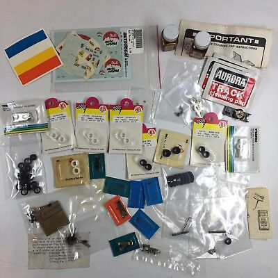 Vintage Lot of NOS/New/Used AURORA AFX, TYCO, AJ's Slot Car Parts & Accessories