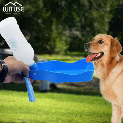 Portable Travel Water Drinking Bottle Dispenser For Pet Dog Cat Outdoor350/600ml
