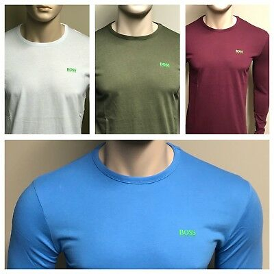 Hugo Boss Long Sleeve 'Togn' Crew Neck  T-Shirt ** Favourite Colour ** S to 2XL
