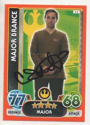 "Star Wars Force Attax Auto Trading Card No.11 Emun Elliot ""Major Brance"""