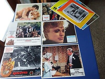 11 Different  1970's Movie film Lobby Cards