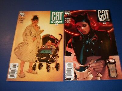 Catwoman #56,57 lot of 2 Hughes VF+ to NM- Beauties