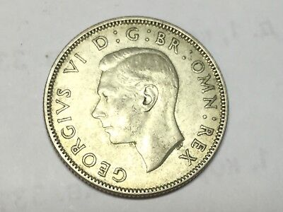 GREAT BRITAIN 1943 2 shiling silver coin excellent condition