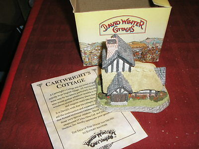 "David Winter Cottages "" The Cartwright's Cottage""  w/ Original Box"