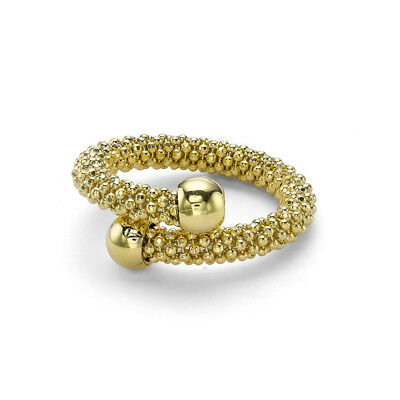 Jewelco London Gilded Sterling Silver Single Wrap Popcorn Fashion Ring